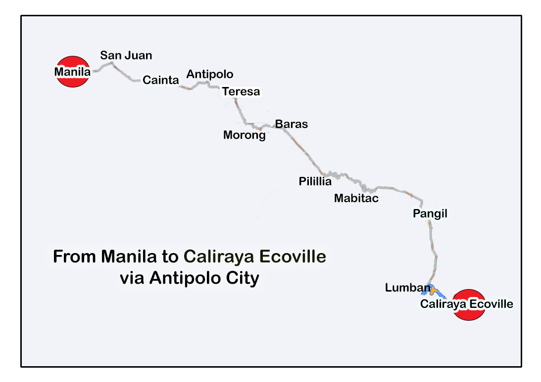 Manila to Caliraya Ecoville via Antipolo